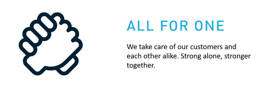 Our Values - All for one