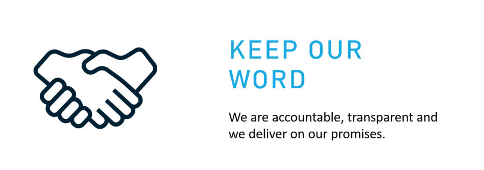 Our values - Keep our word